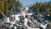altay : Waterfall uchar in altay mountains Stock Footage