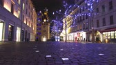 GENEVA – DECEMBER 2014 : Christmas in Geneva timelapse with tracking shot. Find similar in our portfolio.