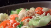 Slow motion of salad. Find similar in our portfolio. Stock Footage