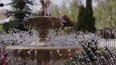 vacuity : Small cute fountain in the city park hd Stock Footage