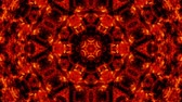 irreal : fire kaleidoscope backgrounds Stock Footage