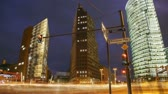 europe : Scene shows the Potsdamer Platz in Berlin.