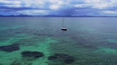 Bay from Alcudia from balearic island Majorca - Majorca, Spain with turquoise blue water Stock Footage