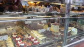 bakery : Cookies and cakes in store in London Stock Footage