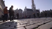 bruxelas : Grant Place in Brussels Stock Footage