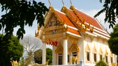 autentický : KOH SAMUI, THAILAND - JULY 13, 2018: Beautiful modern Wat Khunaram . Kunaram Buddhist Temple