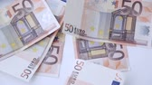 obchod : a lot of falling 50 euro money notes