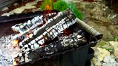 огонь : firewood burning in brazier outdoors