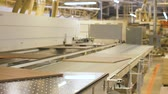 meble : chipboards on conveyer at furniture factory