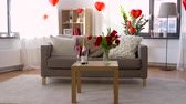 tulip : living room or home decorated for valentines day