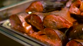 fumado : smoked fish on tray
