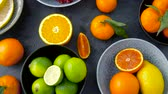 toranja : close up of citrus fruits on stone table