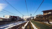 infra estrutura : view to suburb from train or railway in japan