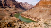 river bed : view of grand canyon cliffs and colorado river