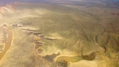 jeolojik : aerial view of grand canyon from helicopter Stok Video