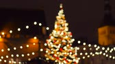 guildhall : christmas tree at old town hall square in tallinn Stock Footage
