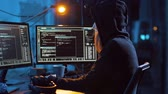 wirus : hacker creating computer virus for cyber attack Wideo
