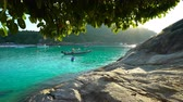 weather : Tropical beach with boats Racha thailand