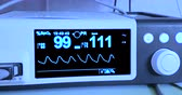 electrocardiogram ecg in hospital surgery operating emergency room showing patient heart rate, health care medical Stock Footage