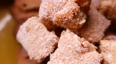 bolo : Closeup of tasty cookies with sugar. 4K UHD