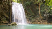 flowing water : Erawan waterfall in Kanchanaburi ,Thailand.