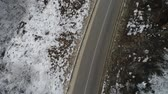 aerial : aerial view forest in winter time
