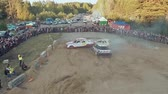 sıkışmış : Baranovichi, Belarus - April 25, 2015: Auto Derby Battle