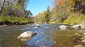 el değmemiş : Easy Flowing River in Autumn in North AmericaCanada
