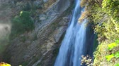 waterfall in villa gregoriana Stock Footage