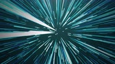 Hyperspace jump in blue Stock Footage