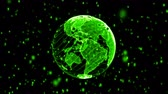 Green Digital World Globe