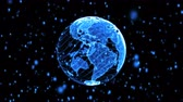 Blue Digital World Globe
