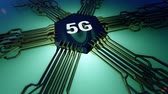 5G mobile network 3D rendering Videos