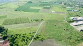 banlieue : Beautiful aerial footage of countryside with green fields. Aerial drone footage