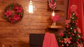 装飾された : Different decorations in festive Christmas room. Modern design