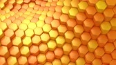 petek : Hexagons Formed A Wave Stok Video