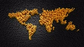 planet earth : Cylinders Formed A World Map Stock Footage
