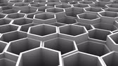 moving down : Background of Hexagon Stock Footage