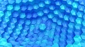соты : Hexagons Formed A Wave Стоковые видеозаписи