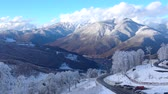 Caucasian mountains. Ski resort.. Sochi. Russia. Stock Footage