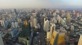 vista desde arriba : Aerial View On Sukhumvit In Bangkok capital on  March 24, 2019 in Bangkok. Thailand