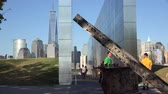 overcome fear : 911 Memorial, September 11th, Freedom Tower Stock Footage