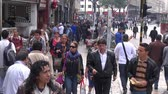 caminhada : Pedestrians, People Walking and Shopping Local Businesses