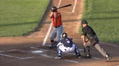 difícil : Baseball Batter Doesnt Swing, Lack of Trying Stock Footage