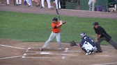 ошибки : Baseball Batter Doesnt Swing, Lack of Trying Стоковые видеозаписи