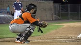 shin : Baseball Catcher, Players, Team, Sports Stock Footage