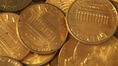 cobre : Pennies, Coins, Money, Currency Stock Footage