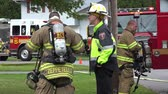 municipal services : Fireman, EMT, Emergeny Response, Fire Marshall Stock Footage
