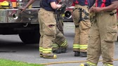 men : Fireman, EMT, Emergeny Response Stock Footage