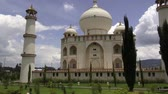 private museum : Taj Mahal Replica Stock Footage